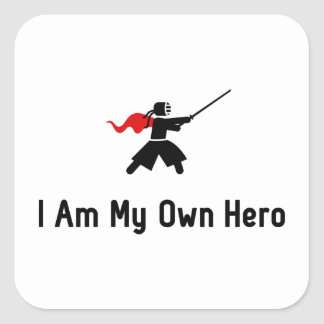 Kendo Hero Square Sticker