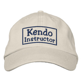 Kendo Instructor Embroidered Baseball Cap