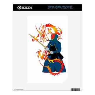Kendo Swordsman and Fire Dragon Skins For NOOK Color
