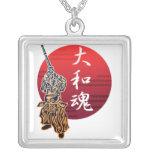 kendo yamatodamashii square pendant necklace