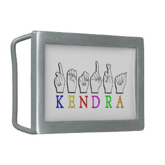 KENDRA  ASL FINGERSPELLED BELT BUCKLES