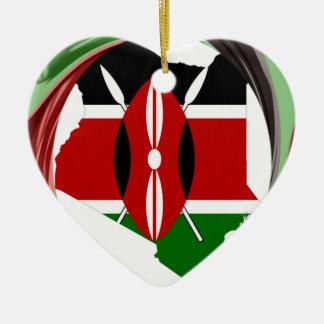 Kenia Hakuna Matata Adorno Navideño De Cerámica En Forma De Corazón