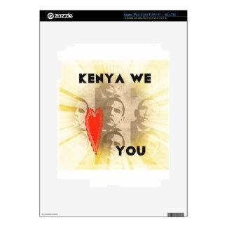 Kenia le amamos pegatina skin para iPad 3