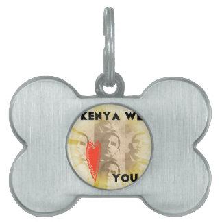 Kenia le amamos placas de mascota