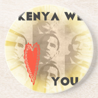 Kenia le amamos posavasos diseño