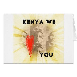 Kenia le amamos tarjeta de felicitación
