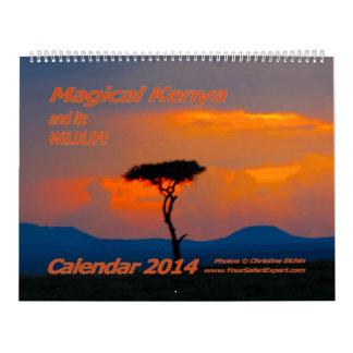 Kenia mágico y su fauna hacen calendarios 2014