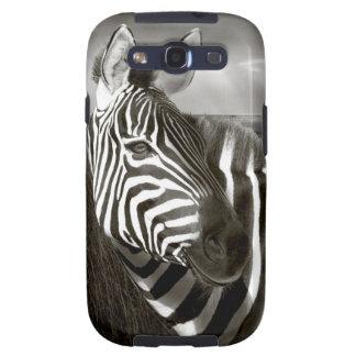 Kenia. Negro y blanco de la cebra y del llano Samsung Galaxy S3 Protectores