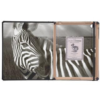 Kenia. Negro y blanco de la cebra y del llano iPad Protector