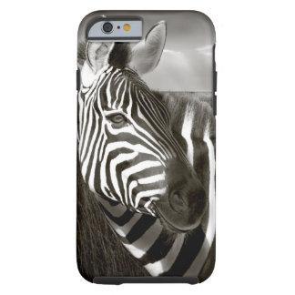 Kenia. Negro y blanco de la cebra y del llano Funda De iPhone 6 Tough