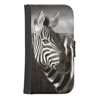 Kenia. Negro y blanco de la cebra y del llano Funda Tipo Cartera Para Galaxy S4