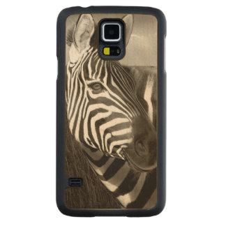 Kenia Negro y blanco de la cebra y del llano Funda De Galaxy S5 Slim Arce