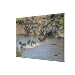 Kenia, ninguna agua ninguna expedición del río de  impresiones en lienzo estiradas