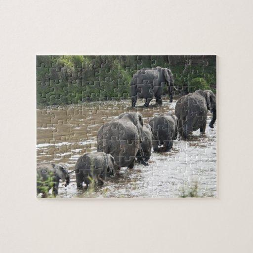 Kenia, ninguna agua ninguna expedición del río de  rompecabezas