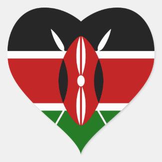 Kenia Pegatina De Corazón Personalizadas
