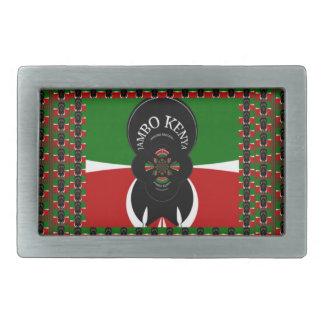 Kenia precioso calienta hebilla de cinturón rectangular