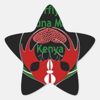 Kenia Raha Hakuna Matata.jpg Pegatina En Forma De Estrella