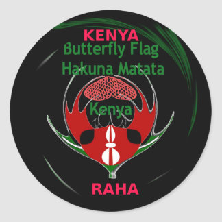 Kenia Raha Hakuna Matata.jpg Pegatina Redonda