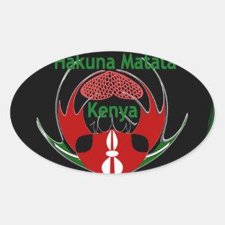 Kenia Raha Hakuna Matata.jpg Pegatina Ovalada