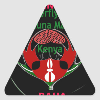 Kenia Raha Hakuna Matata.jpg Pegatina Triangular