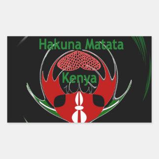 Kenia Raha Hakuna Matata.jpg Pegatina Rectangular