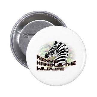 Kenia Wildlife2 Pin Redondo De 2 Pulgadas