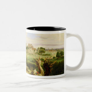Kenilworth Castle, Warwickshire, 1840 (oil on pane Two-Tone Coffee Mug