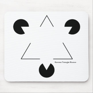 Kenizsa Triangle Illusion Mouse Pad
