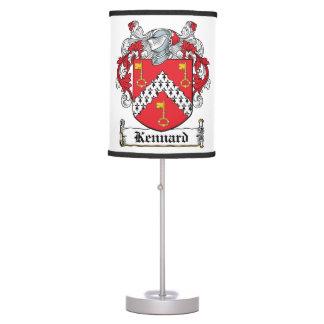 Kennard Family Crest Desk Lamps