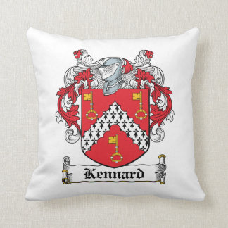 Kennard Family Crest Throw Pillows