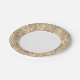 Kennebec County, Maine Paper Plate
