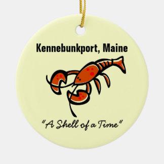 Kennebunkport, Maine Lobster Ceramic Ornament