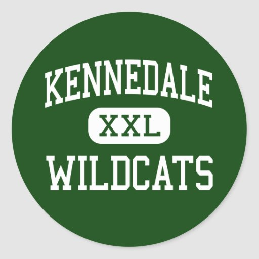 Kennedale - gatos monteses - alto - Kennedale Pegatina Redonda