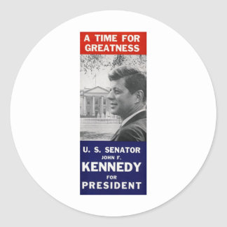 Kennedy - A Time For Greatness Classic Round Sticker