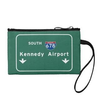 Kennedy Airport JFK I-678 NYC New York City NY Coin Purse