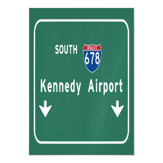 Kennedy Airport JFK I-678 NYC New York City NY Magnetic Card