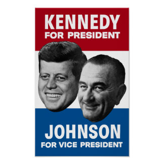 Kennedy And Johnson 1960 Election Poster