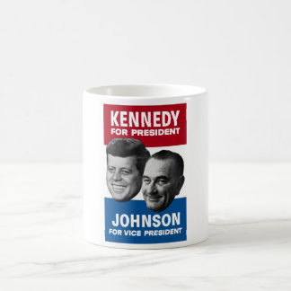 Kennedy And Johnson 1960 Election Poster Classic White Coffee Mug