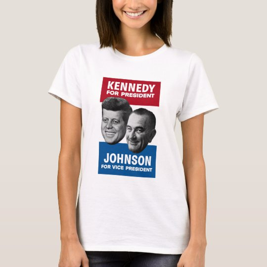 Kennedy And Johnson 1960 Election Poster T-Shirt