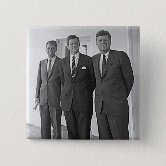 Kennedy Brothers, John, Ted, Robert Button