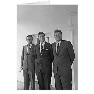 Kennedy Brothers, John, Ted, Robert Card