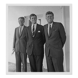 Kennedy Brothers, John, Ted, Robert Poster
