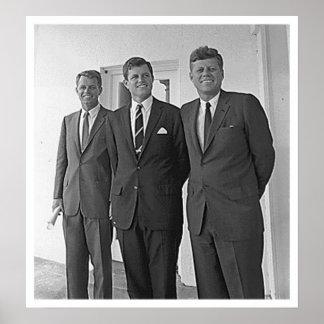 Kennedy Brothers, John, Ted, Robert Print