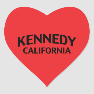 Kennedy California Heart Sticker