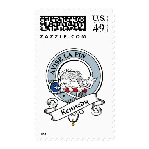 Kennedy Clan Badge Postage Stamp