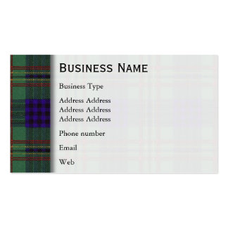 Kennedy clan Plaid Scottish tartan Business Card Templates