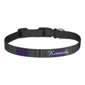 Kennedy clan Plaid Scottish tartan Pet Collar