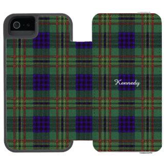 Kennedy clan Plaid Scottish tartan Incipio Watson™ iPhone 5 Wallet Case