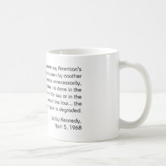 Kennedy Classic White Coffee Mug