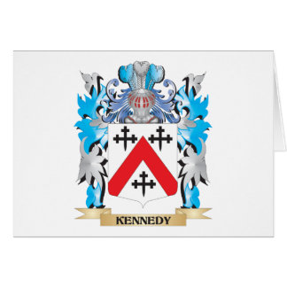 Kennedy- Coat of Arms - Family Crest Stationery Note Card